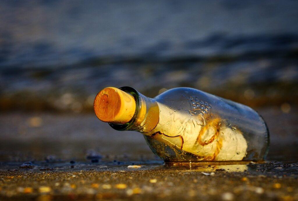 message in a bottle, sea, wreck-3437294.jpg